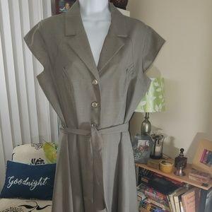 Work/Office Calvin Klein Dress  w/wrap belt sz 14